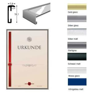 Marco de aluminio para documentos - El marco de intercambio de alta calidad
