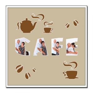 "Paspartú con tema ""café"""
