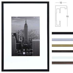 Marco de aluminio Manhattan con paspartú