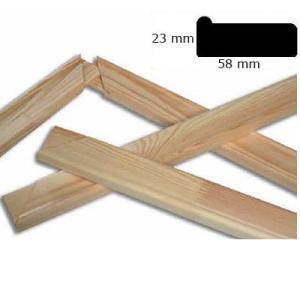 Listel de bastidor 5,8x2,3 cm a medida