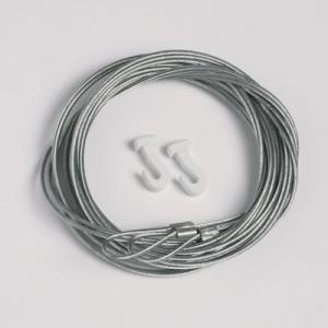 2 piezas cable de acero 1,3mm/200cm con lazo ganchos deslizables