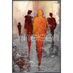 """Imagen con marco """"Abstract Figures Red"""" con marco de alumino Alpha"""