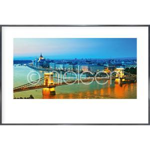 """Imagen con marco """"Budapest"""" con marco de alumino Alpha"""