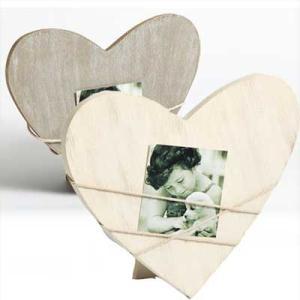 Marco para retrato Bella 2, forma de corazón gris