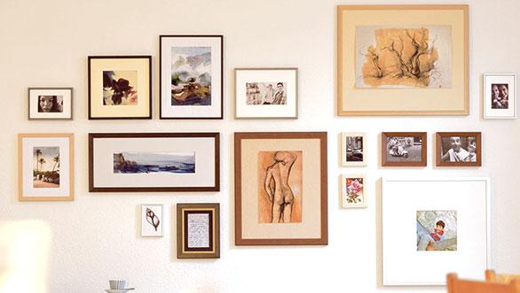 ¿Cómo colgar los cuadros correctamente en casa?