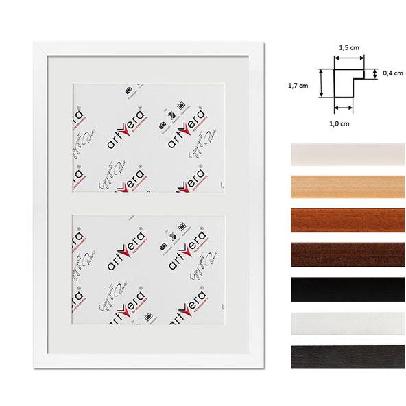 """Marco galería para 2 """"Uppsala"""", 25x35 cm - 13x18 cm"""