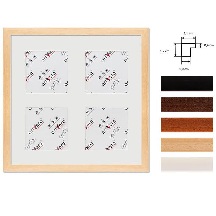 """Marco galería para 4 """"Uppsala"""", 30x30 cm - 10x10 cm"""