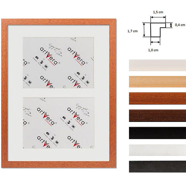 """Marco galería para 2 """"Uppsala"""", 30x40 cm - 15x20 cm"""
