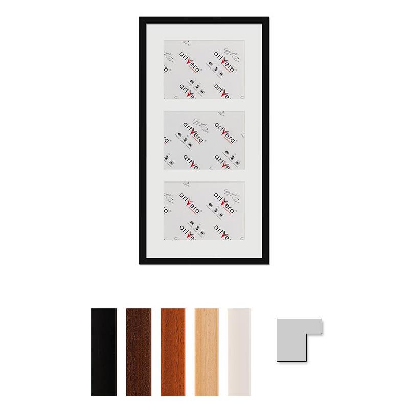 """Marco galería para 3 """"Uppsala"""", 30x60 cm - 15x20 cm"""