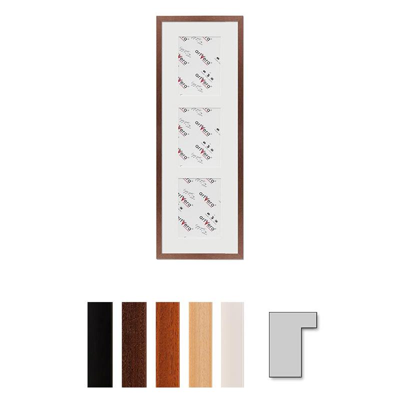 """Marco galería para 3 """"Lund"""", 23x70 cm - 13x18 cm"""