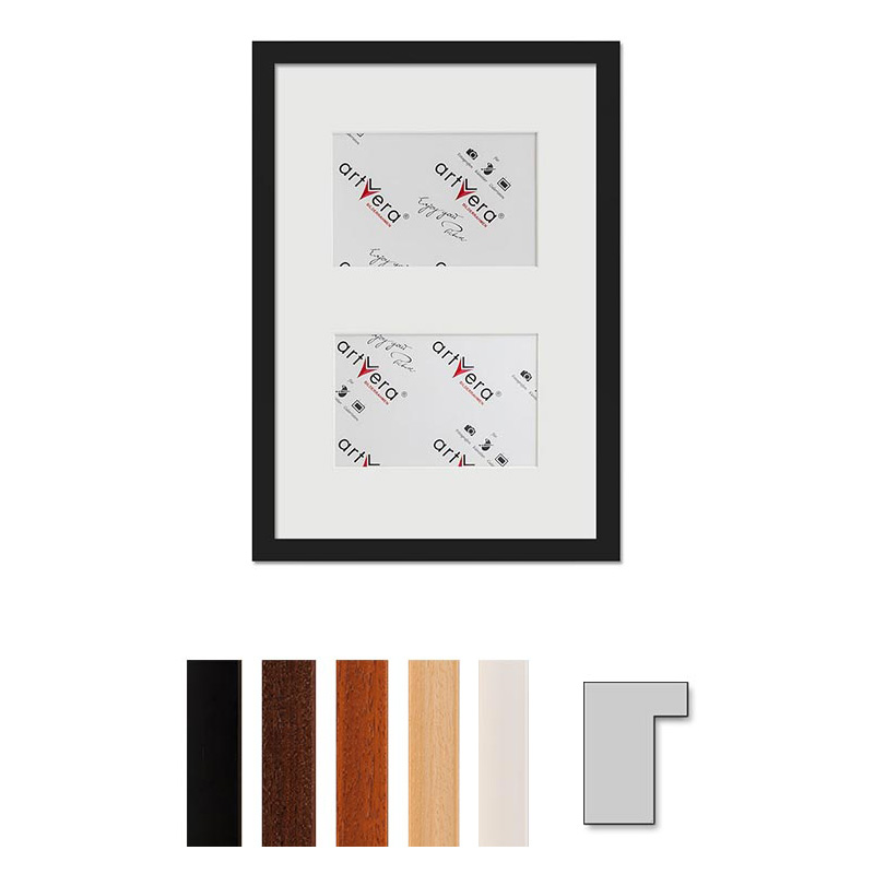 """Marco galería para 2 """"Lund"""", 25x35 cm - 10x15 cm"""