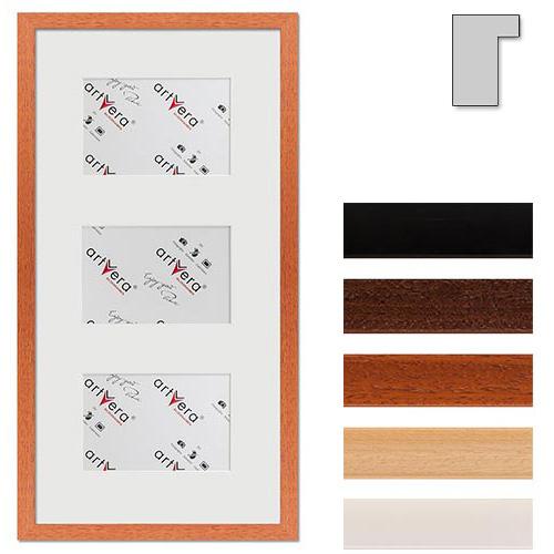 """Marco galería para 3 """"Lund"""", 25x50 cm - 10x15 cm"""