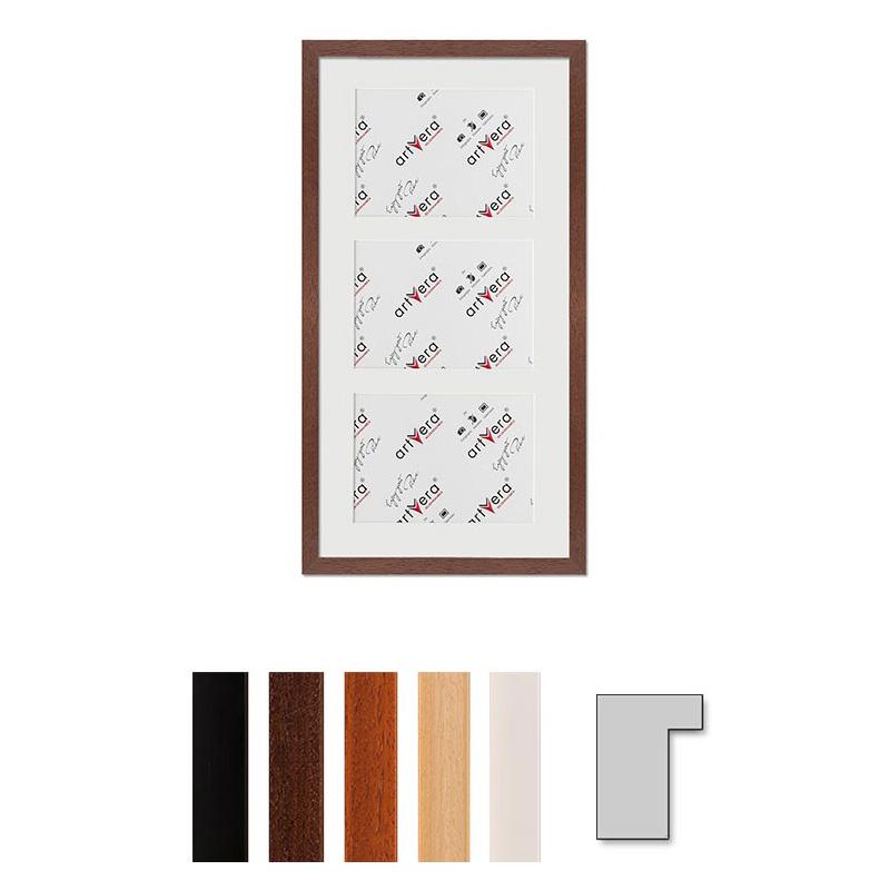 """Marco galería para 3 """"Lund"""", 25x50 cm - 13x18 cm"""