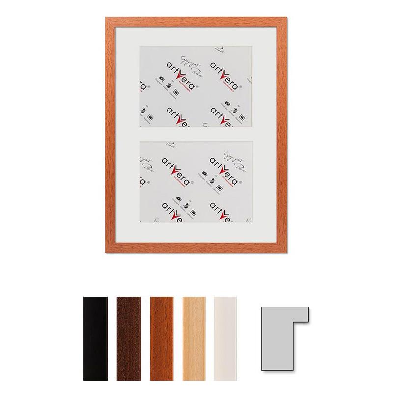 """Marco galería para 2 """"Lund"""", 30x40 cm - 15x20 cm"""