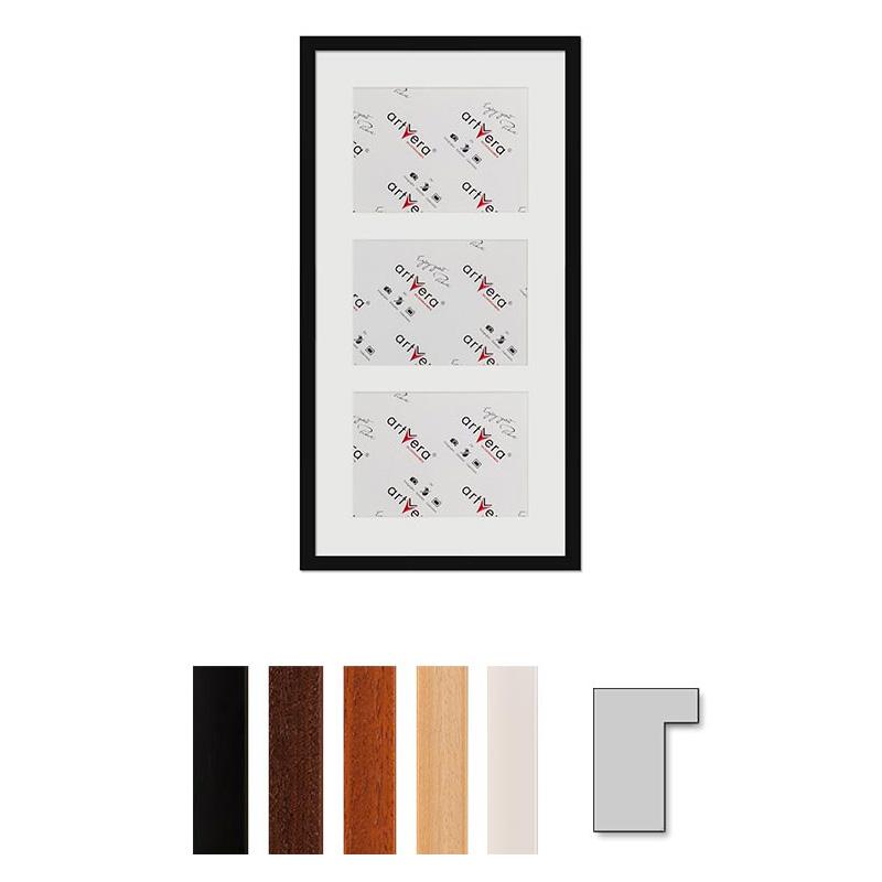 """Marco galería para 3 """"Lund"""", 30x60 cm - 15x20 cm"""