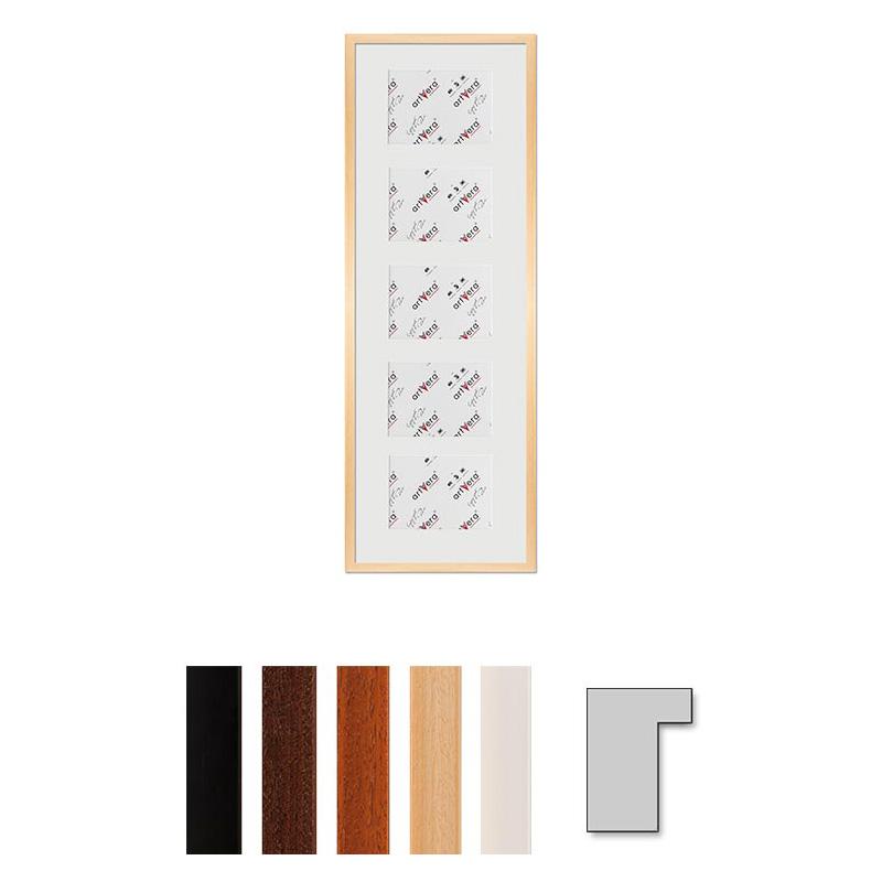 """Marco galería para 5 """"Lund"""", 30x90 cm - 13x18 cm"""