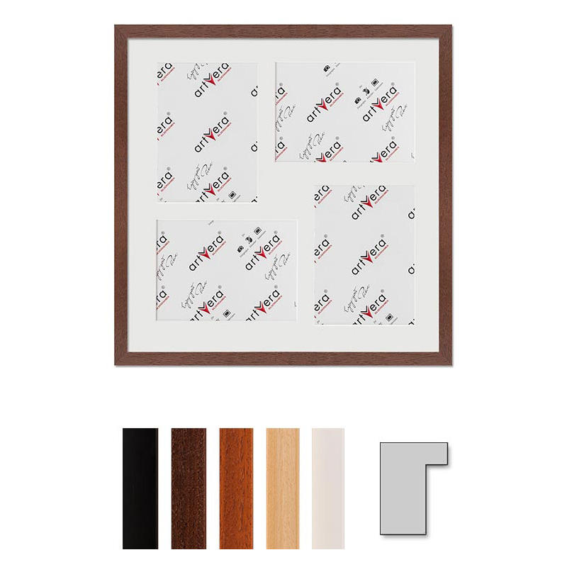 """Marco galería para 4 """"Lund"""", 40x40 cm - 13x18 cm"""