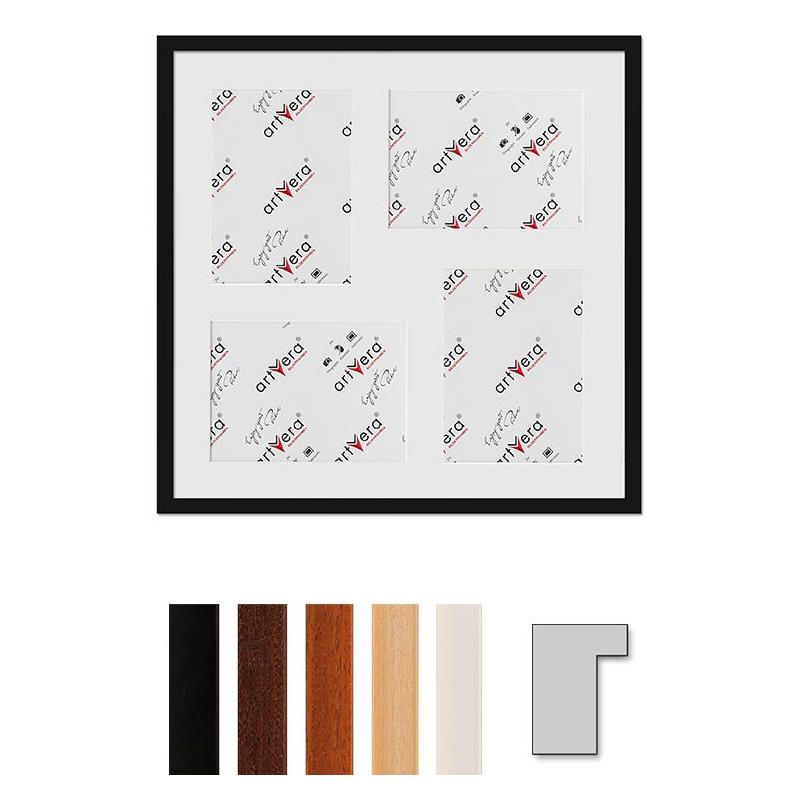 """Marco galería para 4 """"Lund"""", 50x50 cm - 15x20 cm"""