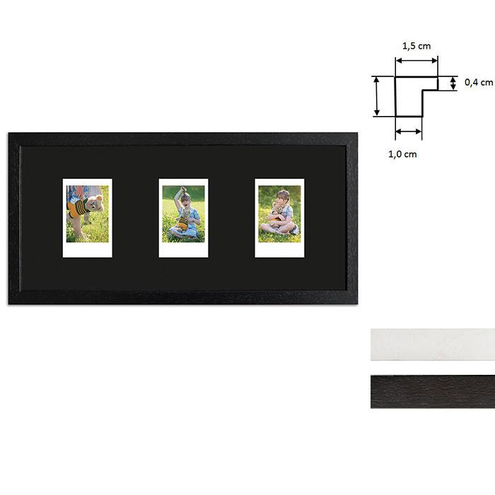 Marco para 3 imagenes directas - Typ Instax Mini