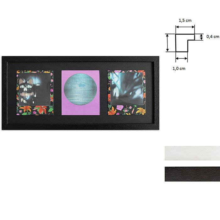 Marco para 3 imagenes directas - Typ Polaroid 600