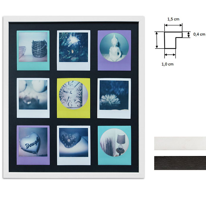 Marco para 9 imagenes directas - Typ Polaroid 600