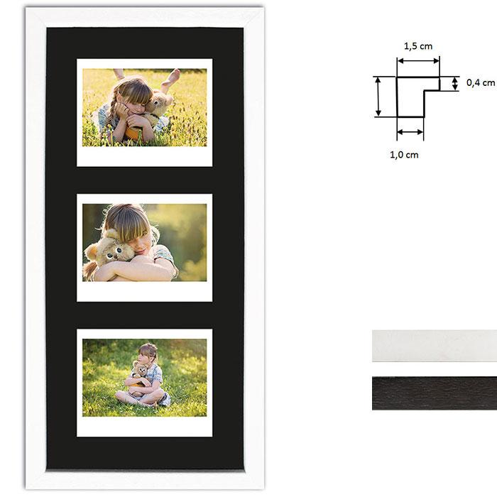 Marco para 3 imagenes directas - Typ Instax Wide