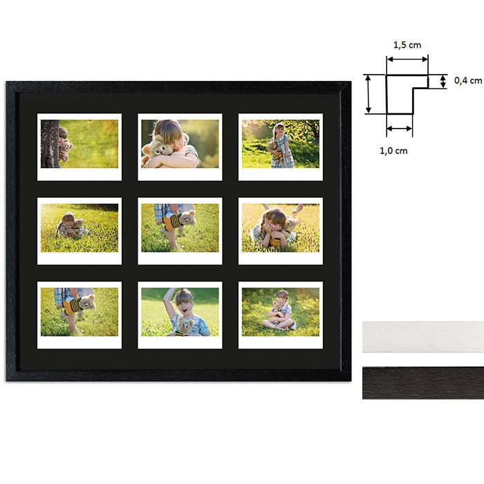 Marco para 9 imagenes directas - Typ Instax Wide