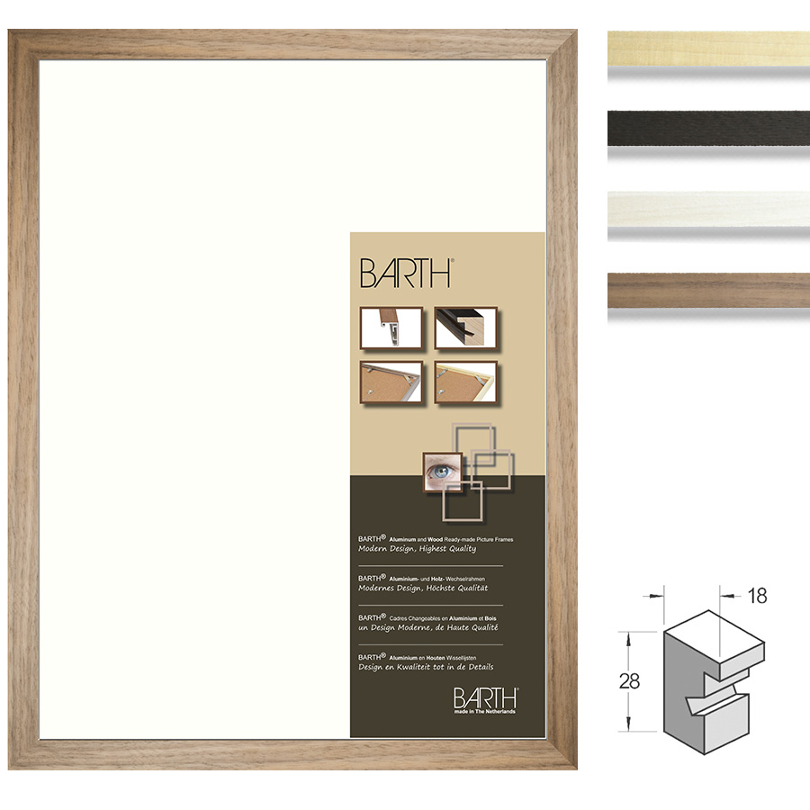 Marco de madera serie 210