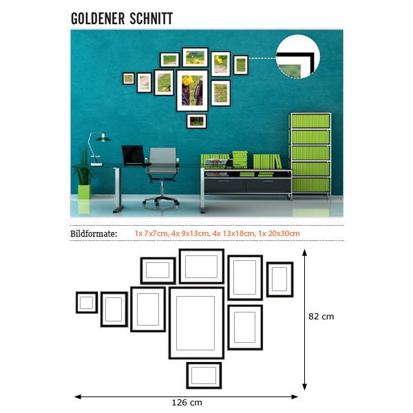 """Galería para pared """"Sección aurea"""""""
