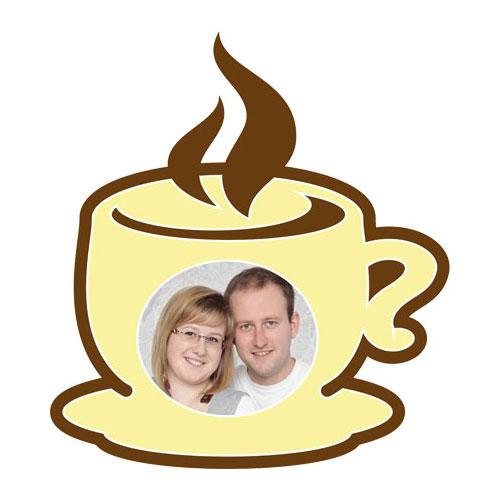 """Paspartú con motivo """"taza de café"""""""