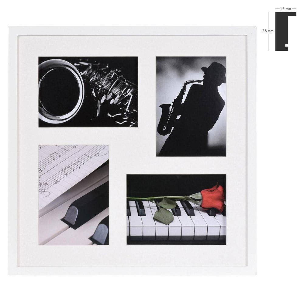 Marco galería Piano para 4 imagenes