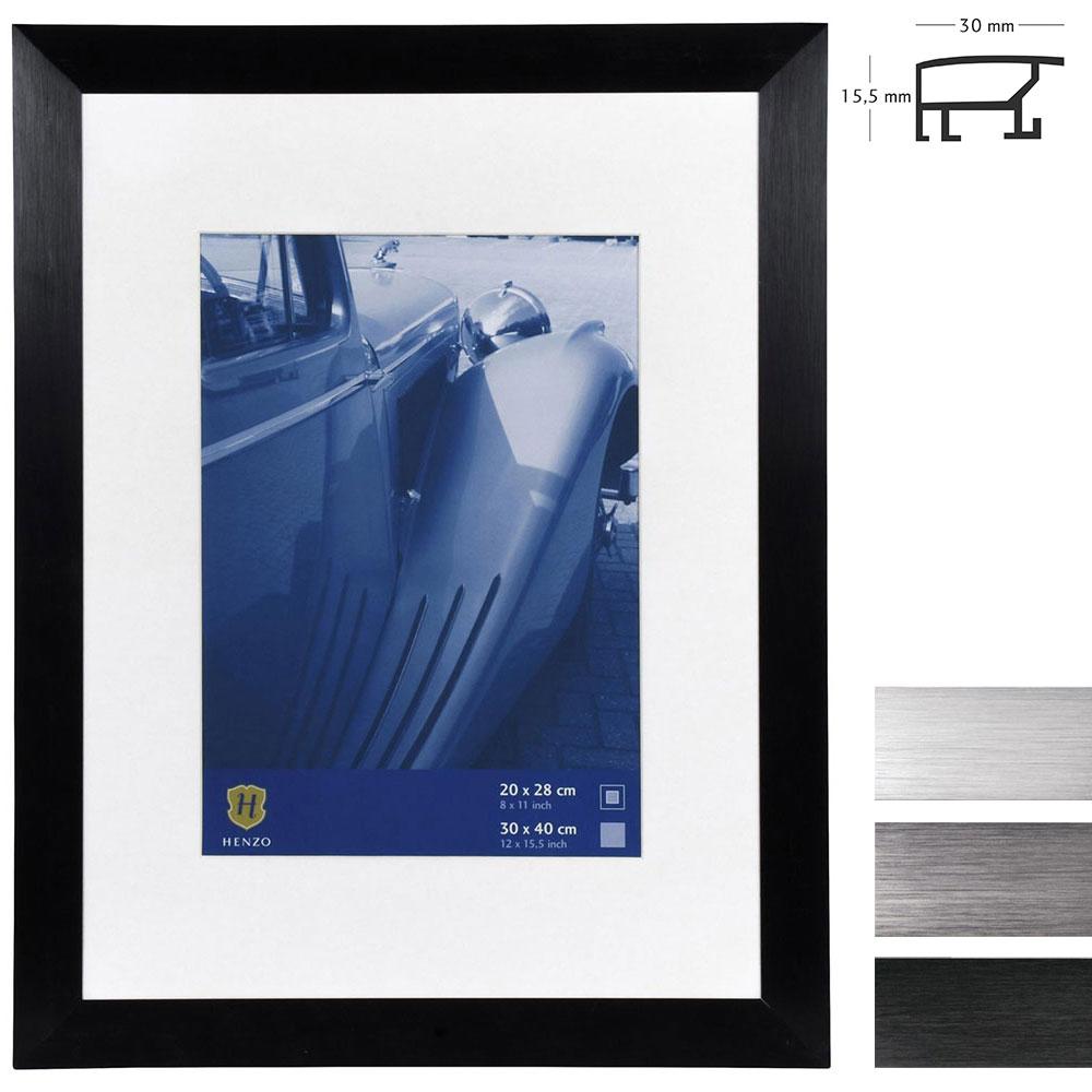 Marco de aluminio Luzern con paspartú
