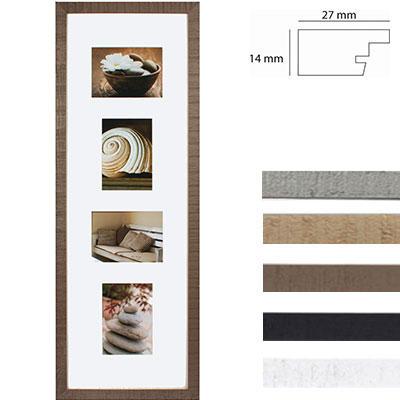 Marco galería Driftwood para 4 imagenes