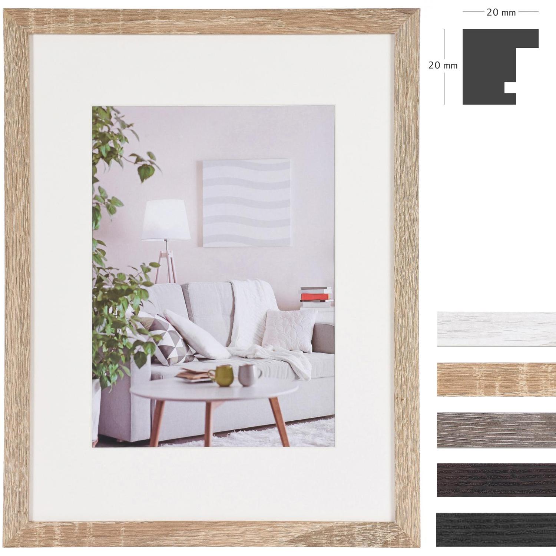 MDF-Marco de madera Modern con paspartú