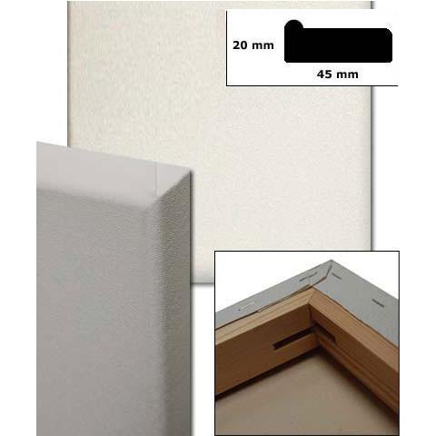 Bastidor con lienzo, perfil 4,5x1,9 cm a medida