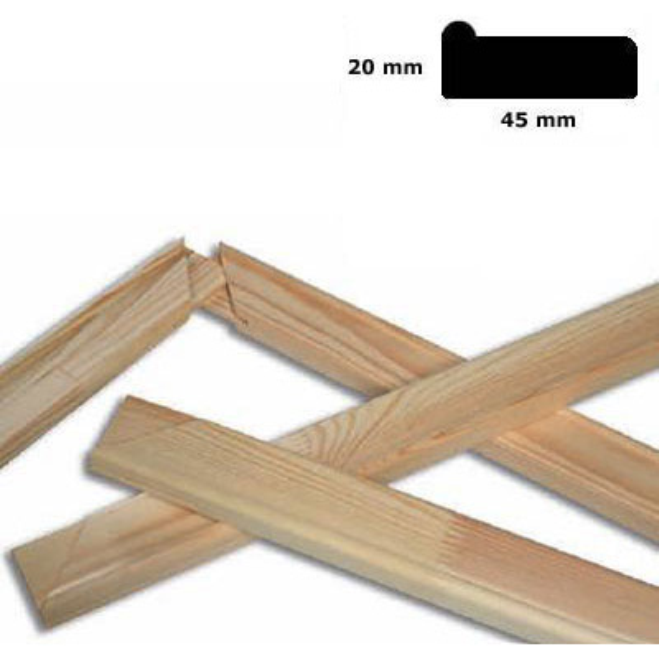 Listel de bastidor 4,5x1,9 cm