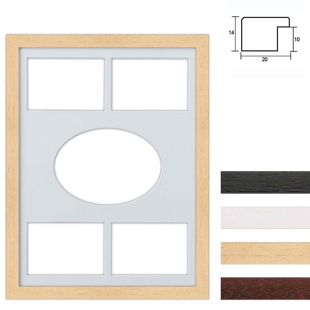 Marco galería de madera en 30x40 cm para 5 fotos