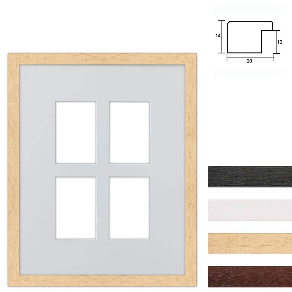 Marco galería de madera en 40x50 cm para 4 fotos