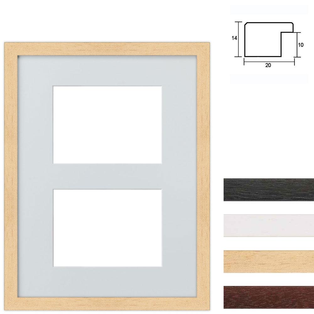 Marco galería de madera en 30x40 cm para 2 fotos