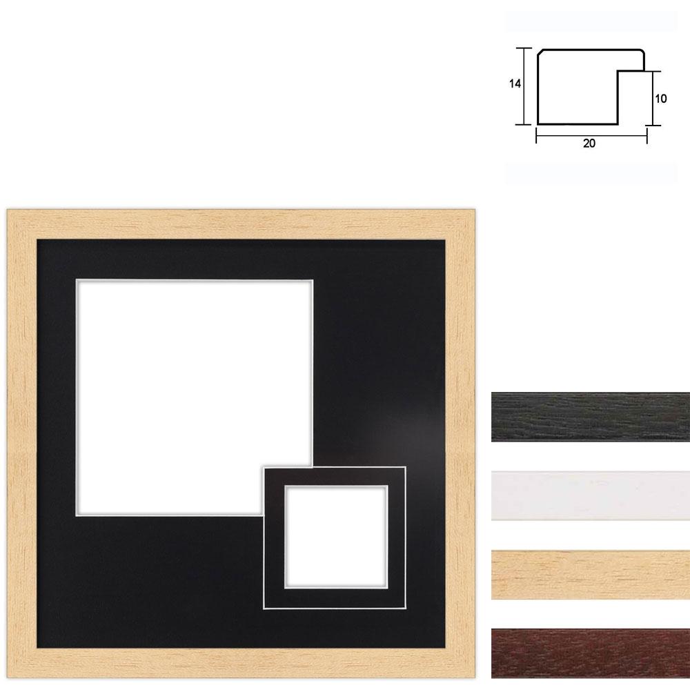 Marco galería de madera en 30x30 cm para 2 fotos