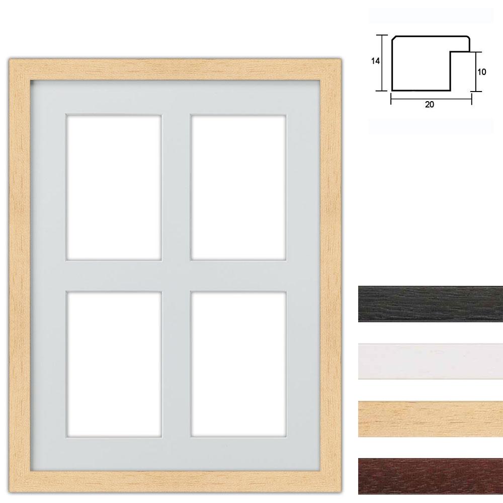 Marco galería de madera en 30x40 cm para 4 fotos