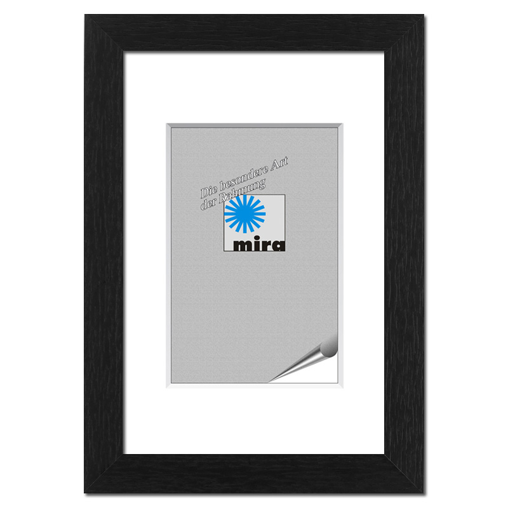 Nouvelle con listel a distancia 9x13 cm | negro | vidrio standard