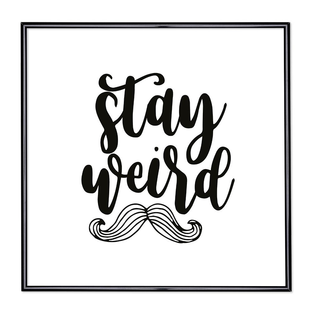 Marco con el lema - Stay Weird
