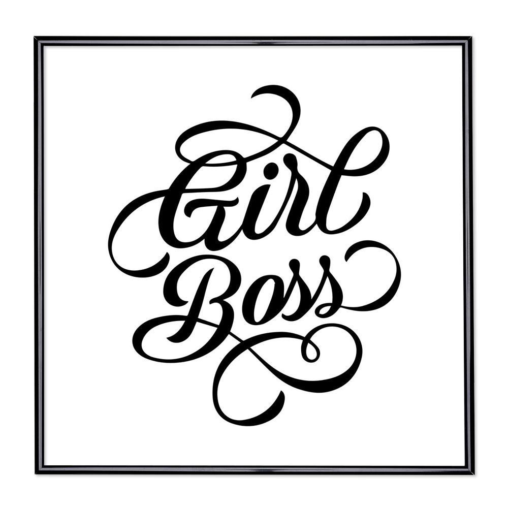 Marco con el lema - Girl Boss
