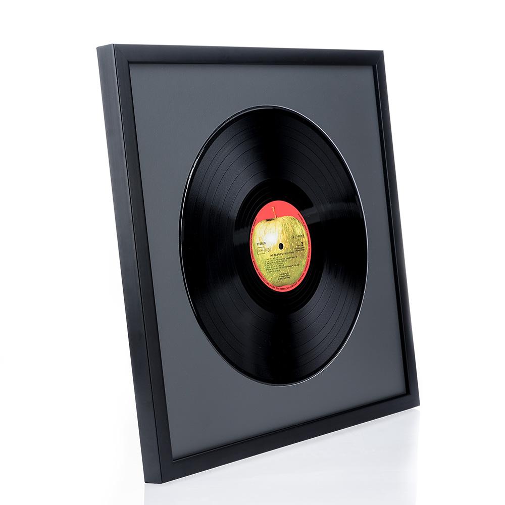 Marco de madera Top Cube para discos de vinilo