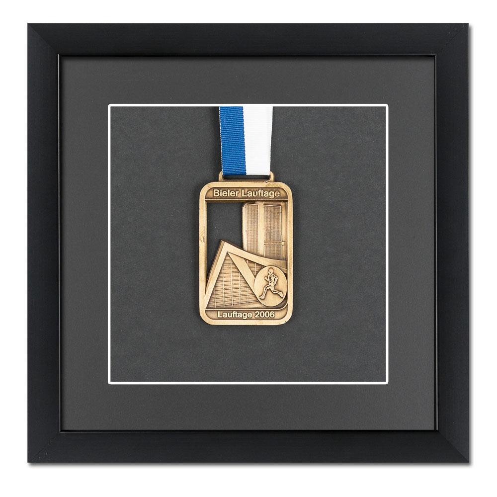 Marco para medallas 20x20 cm, negro