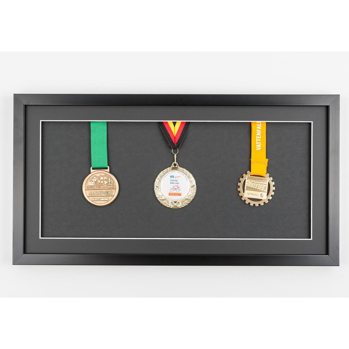 Marco para medallas 25x50 cm, negro