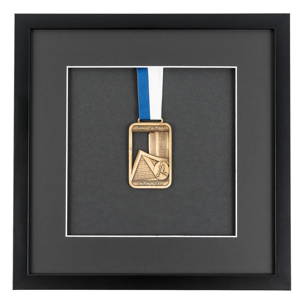 Marco para medallas 30x30 cm, negro