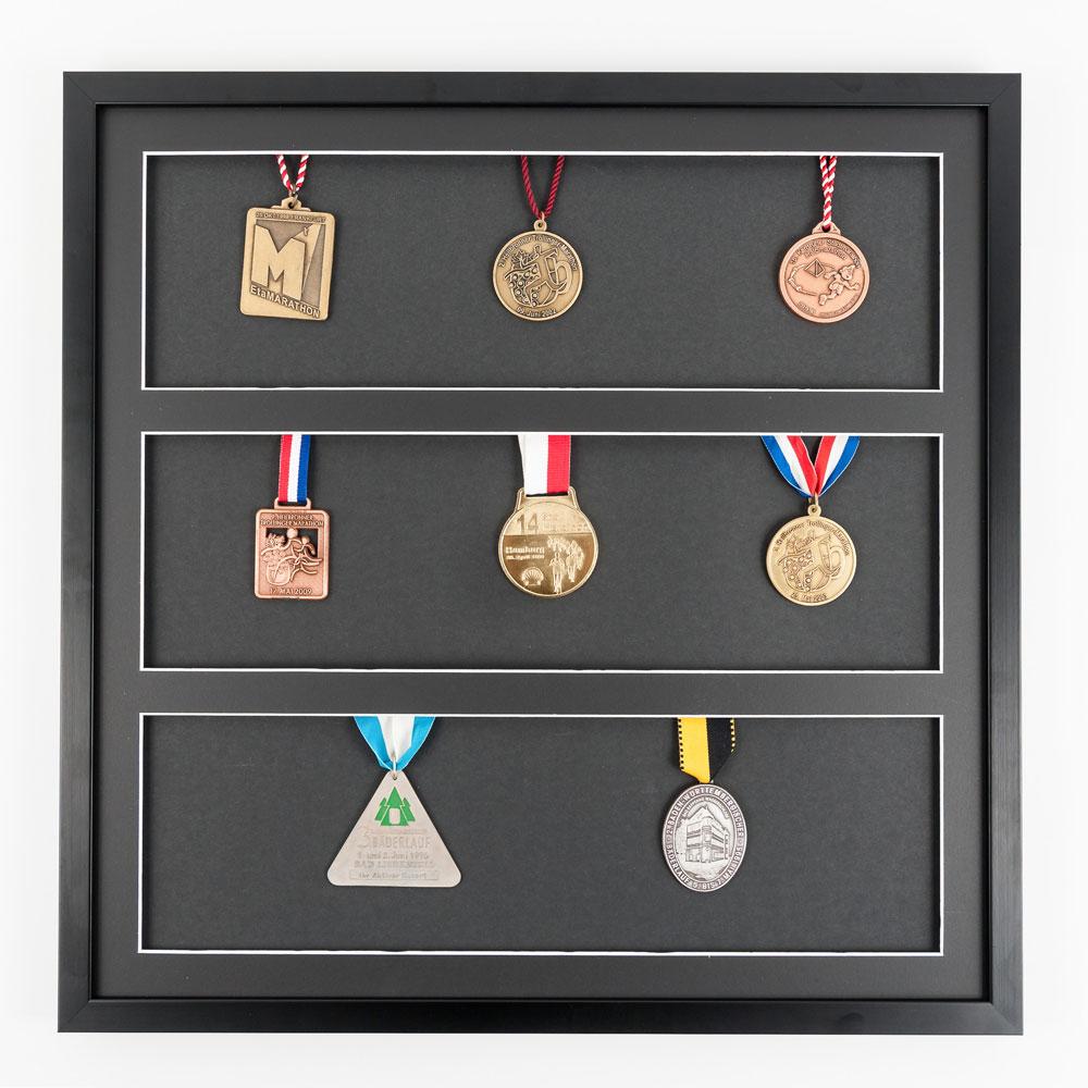 Marco para medallas 50x50 cm, negro