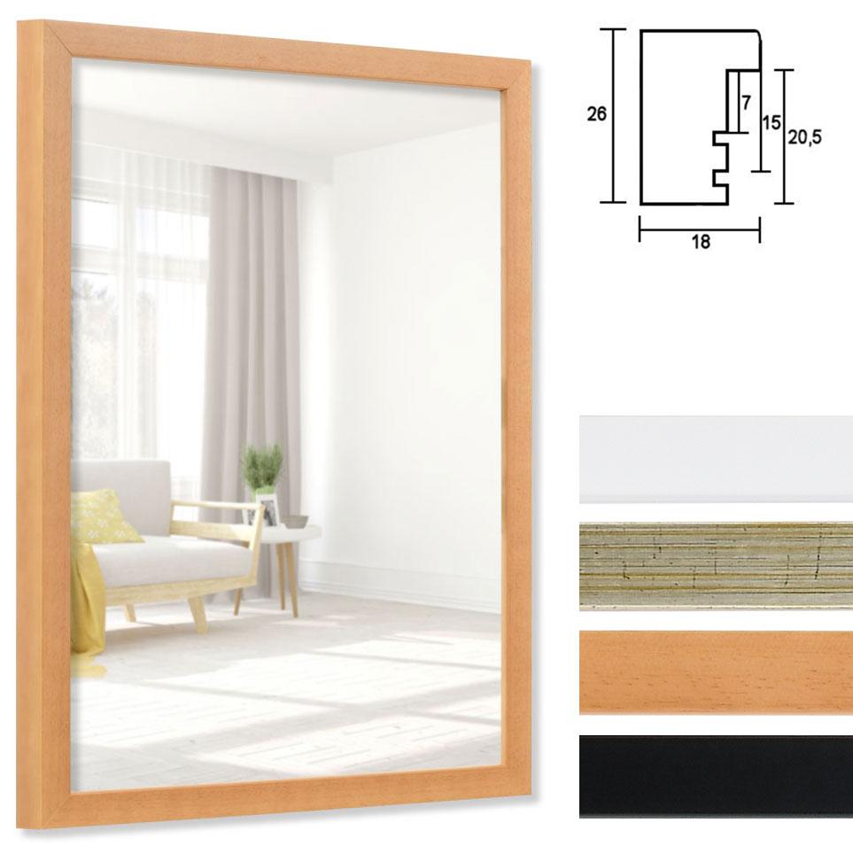Marco para espejos Figari 10,5x14,8 cm (A6) | marrón | espejo
